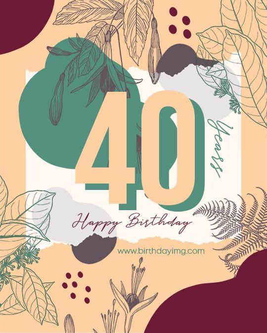 Free 40th Years Happy Birthday Image - birthdayimg.com