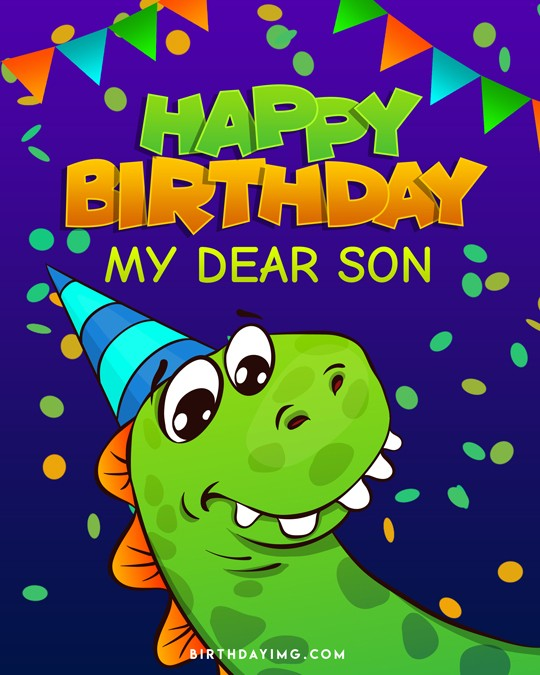 Free For Son Happy Birthday Image - birthdayimg.com