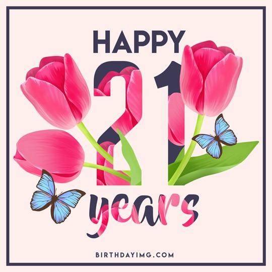 Free 21th Years Happy Birthday Image - birthdayimg.com