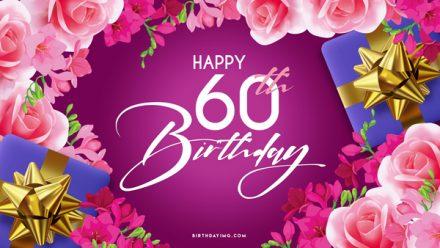 Free 60th Years Happy Birthday Wallpaper - birthdayimg.com