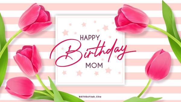 Free Happy Birthday Wallpaper for Mom - birthdayimg.com