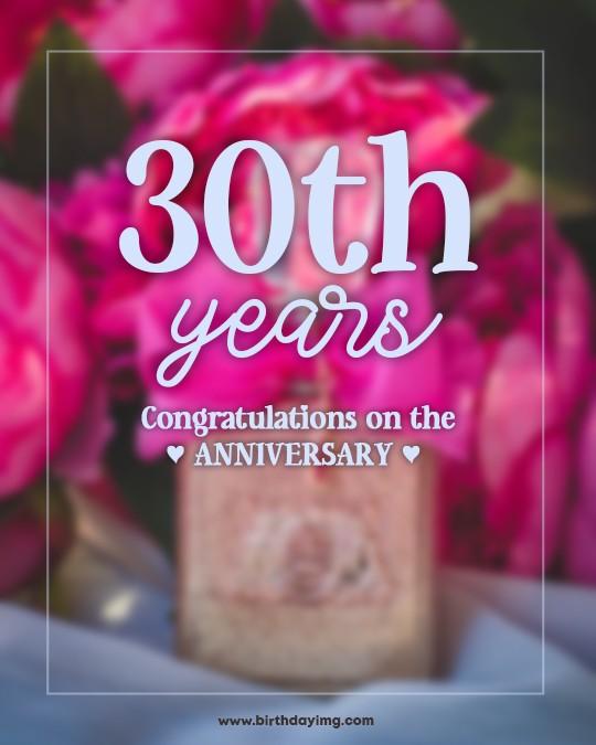 Free 30 Years Happy Birthday Image - birthdayimg.com