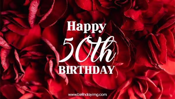 Free 50th Years Happy Birthday Wallpaper - birthdayimg.com