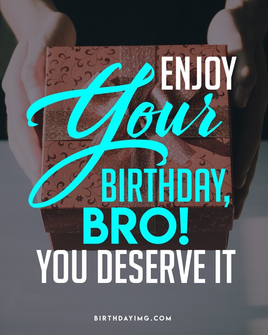 Free Happy Birthday for Brother With a Gift - birthdayimg.com