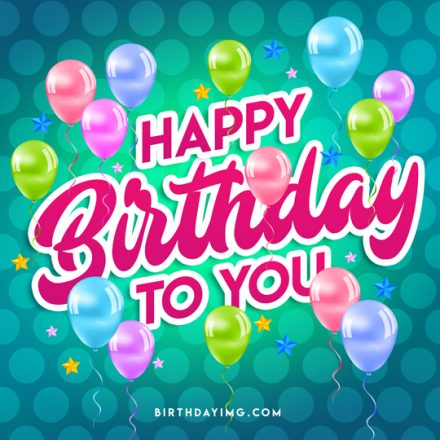 Free Funny Happy Birthday Image with Multicolor Balloons - birthdayimg.com