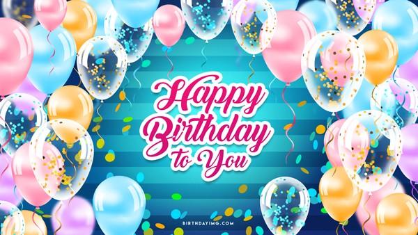 Free Happy birthday Wallpaper With Balloons - birthdayimg.com