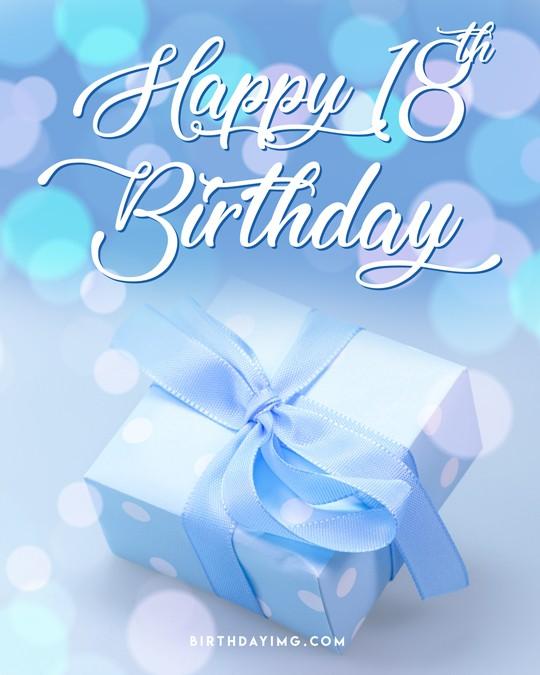 Free 18 Years Happy Birthday Image With Gift - birthdayimg.com