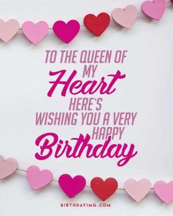 Free For Wife Happy Birthday Image with Hearts - birthdayimg.com
