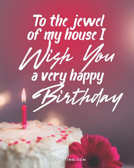 Free For Wife Happy Birthday Image with Cake - birthdayimg.com
