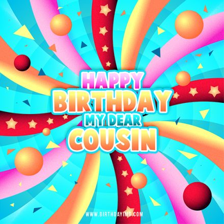 Free Multicolored Happy Birthday Image For Cousin - birthdayimg.com