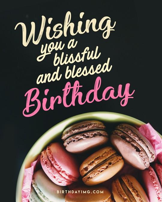 Free Happy Birthday Image with Pastries - birthdayimg.com