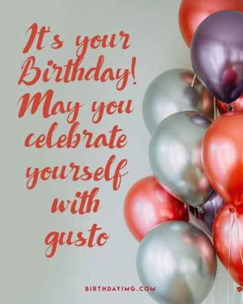 Free Happy Birthday Image with Silver and Red Balloons - birthdayimg.com