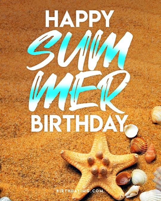 Free Summer Happy Birthday Image - birthdayimg.com