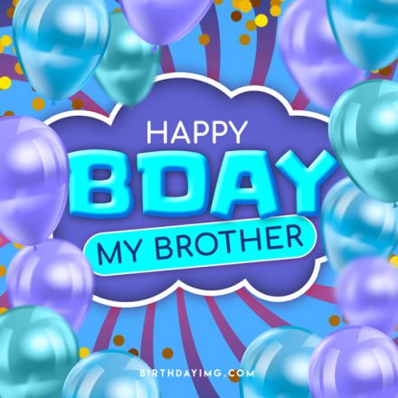 Free Multicolored Happy Birthday Image For Brother - birthdayimg.com