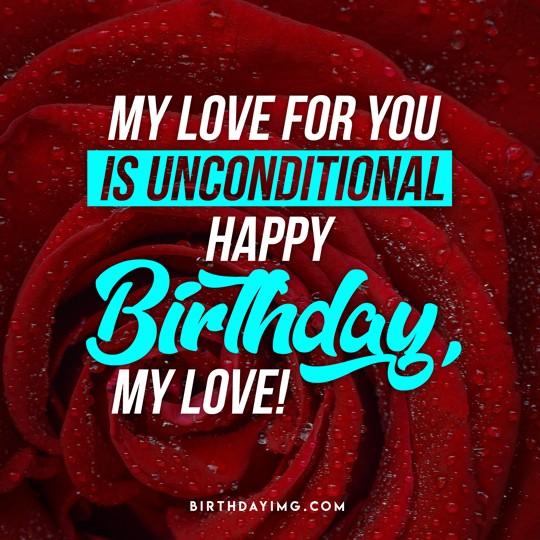 Free Love Happy Birthday Image with Flower - birthdayimg.com