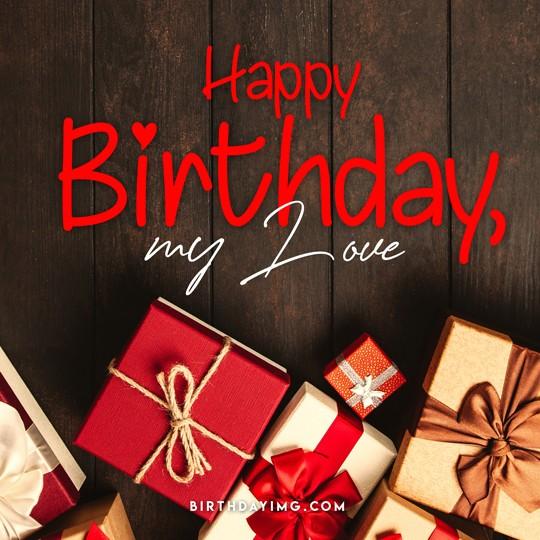 Free Love Happy Birthday Image with Gifts - birthdayimg.com