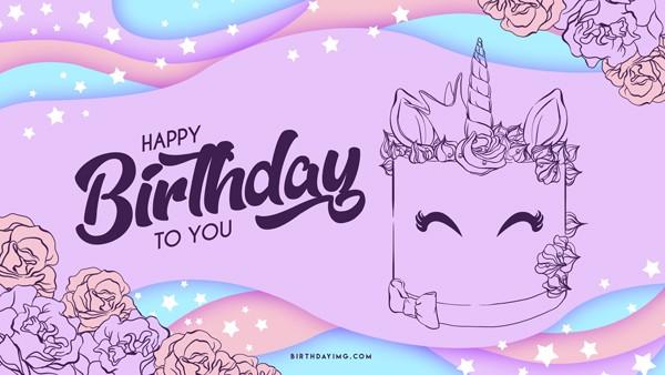 Free Happy Birthday Funny Wallpaper with Cake - birthdayimg.com