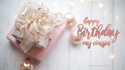 Free Light Pink Happy Birthday Wallpaper For Cousin - birthdayimg.com