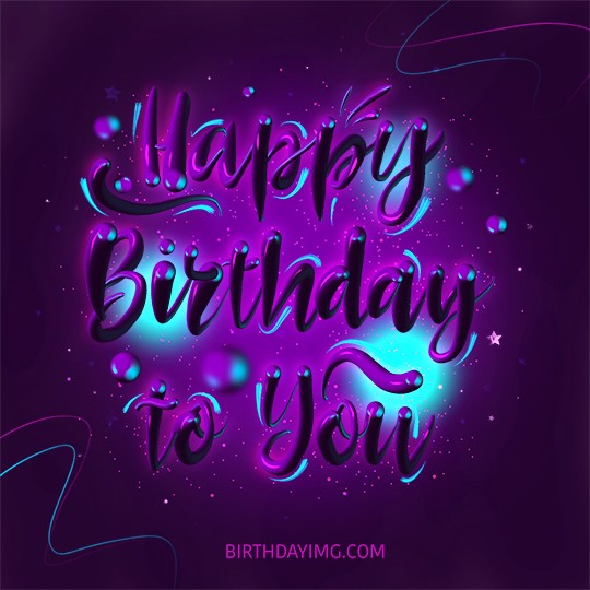 Free Purple Happy Birthday Image For Girl - birthdayimg.com