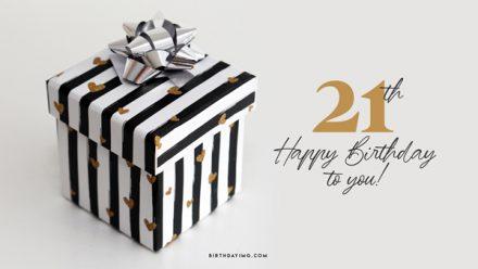 Free 21th Years Happy Birthday Wallpaper with Present - birthdayimg.com
