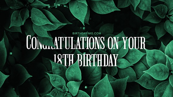 Free 18 Years Happy Birthday Wallpaper with Foliage - birthdayimg.com