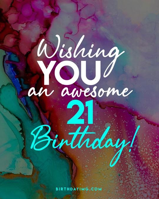Free 21 Years Happy Birthday Wishes Image - birthdayimg.com