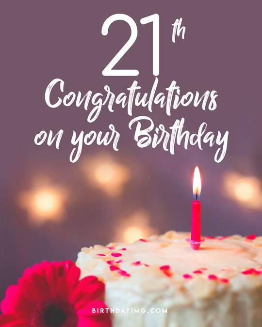 Free 21 Years Happy Birthday Image With Cake - birthdayimg.com