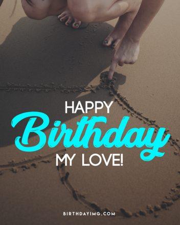 Free Love Happy Birthday Image with Hearts - birthdayimg.com