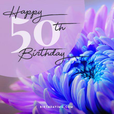 Free 50 Years Happy Birthday Image With Flowers - birthdayimg.com