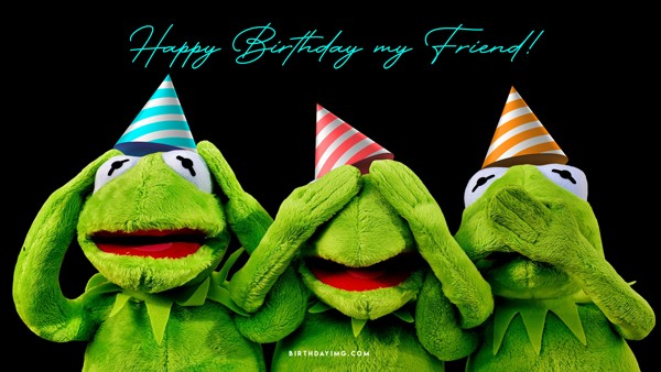 Free Happy Birthday Wallpaper with Cool Toads - birthdayimg.com