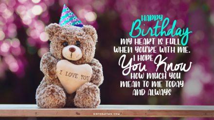 Free Happy Birthday Wallpaper with Cool Teddy Bear - birthdayimg.com