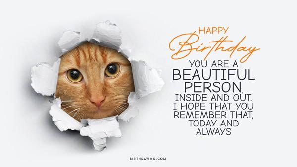 Free Happy Birthday Wallpaper with Cool Cat - birthdayimg.com