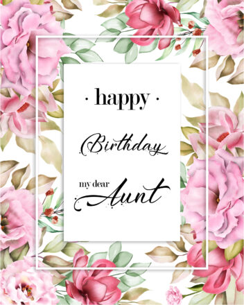 Free Happy Birthday Image For Aunt With Flowers - birthdayimg.com