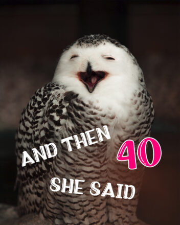 Free Funny 40th Years Happy Birthday Image With Owl - birthdayimg.com