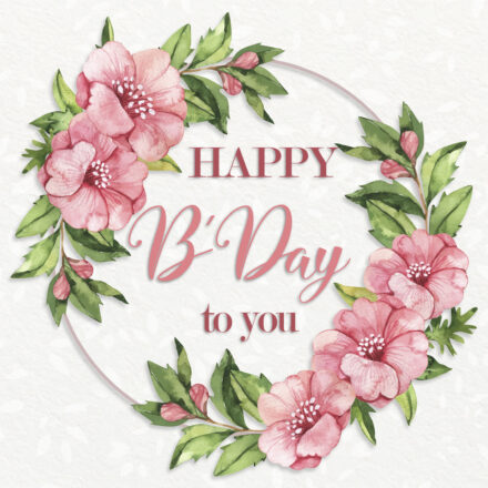 Free Happy Birthday Image For Girl With Flowers - birthdayimg.com