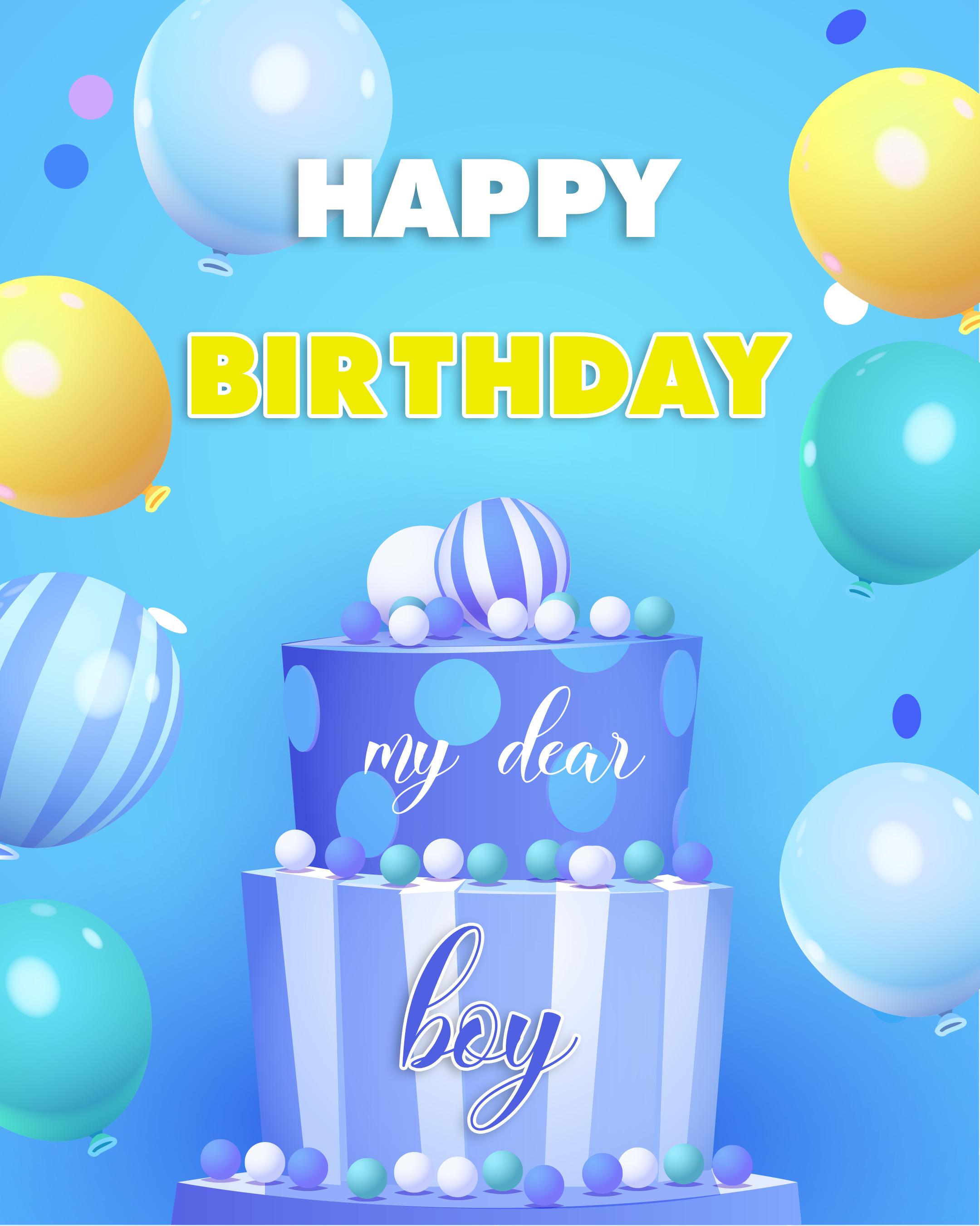 Free Happy Birthday Image For Boy With Cake - birthdayimg.com