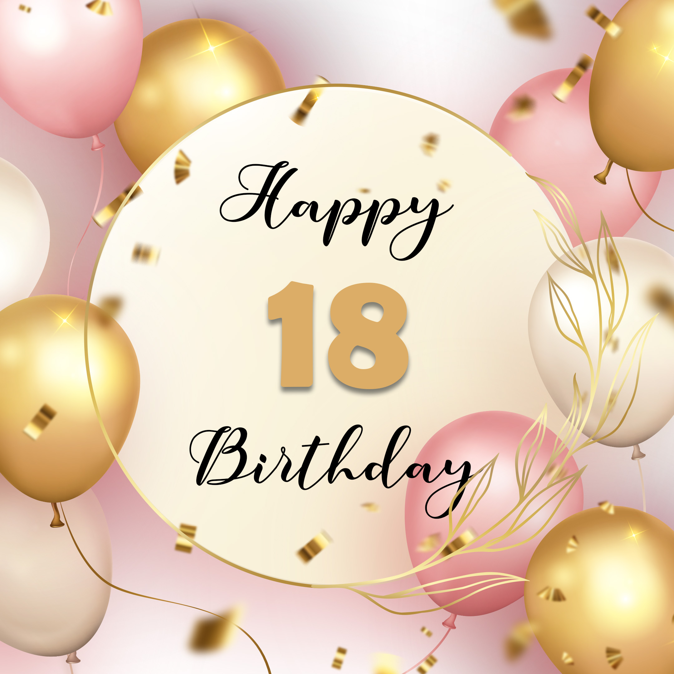 Free 18th Years Happy Birthday Image With Balloons - birthdayimg.com