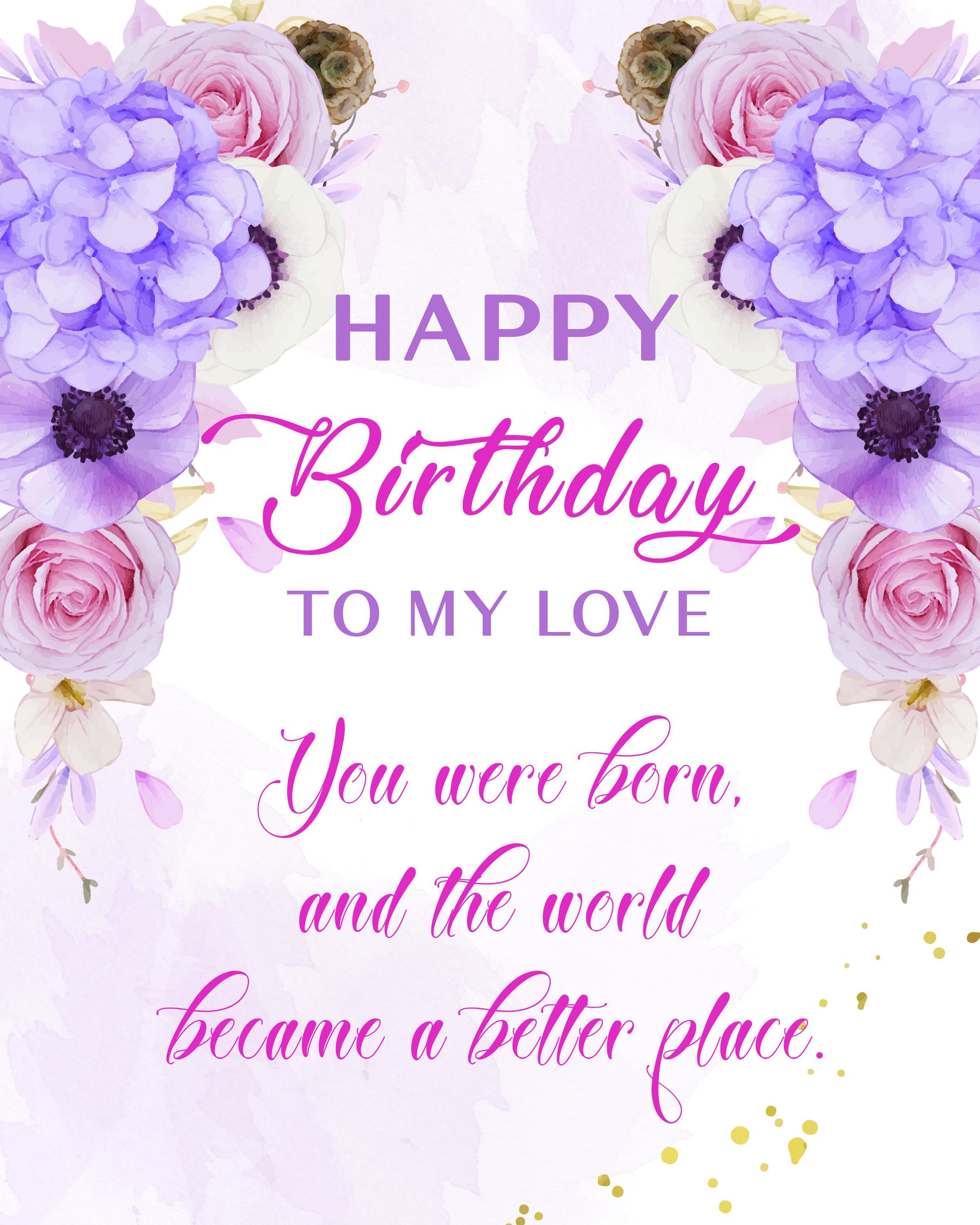 Free Happy Birthday Image With Love - birthdayimg.com