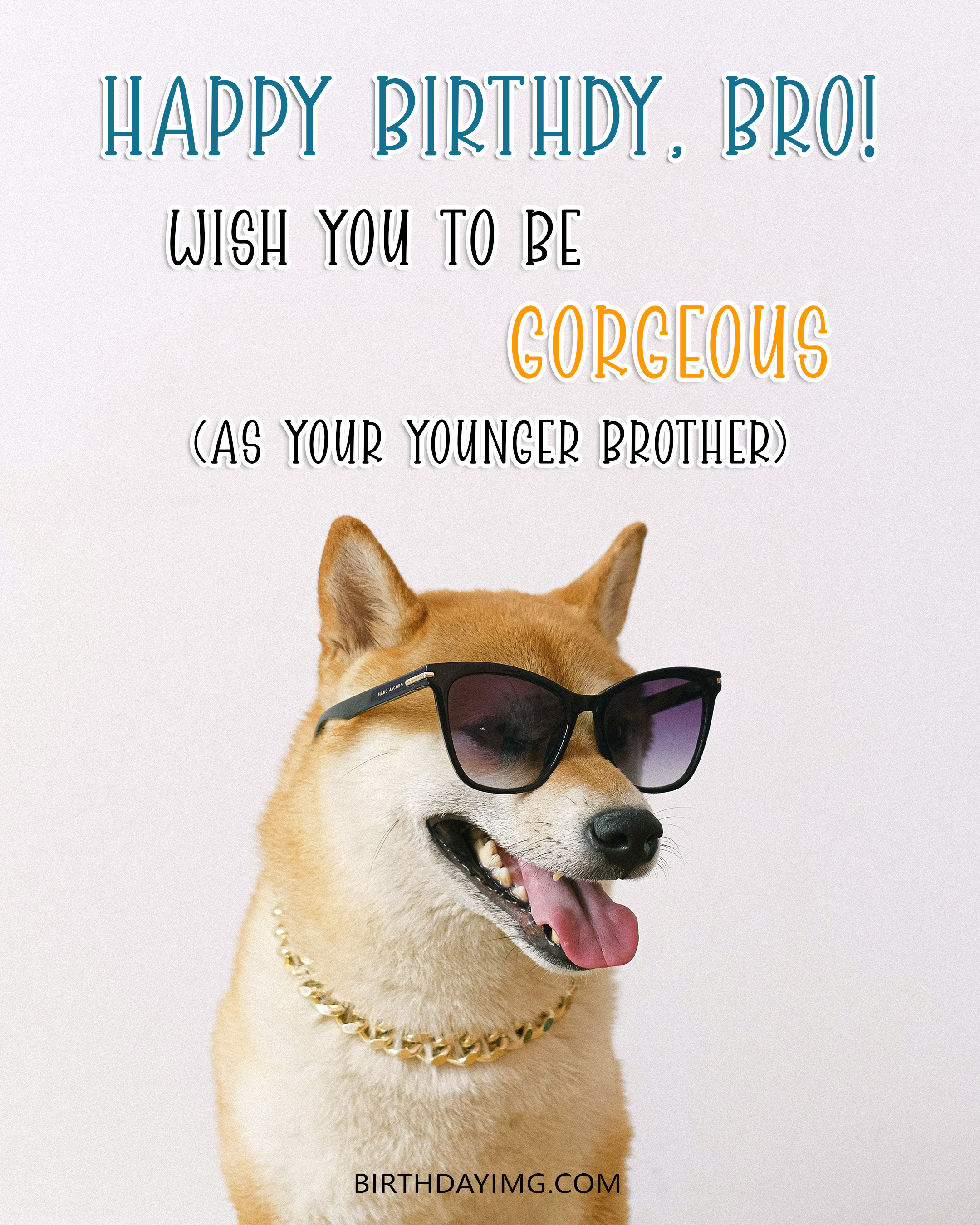 Free Funny Happy Birthday Image For Brother With Dog - birthdayimg.com