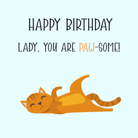 Free Funny Happy birthday Image For Woman With Cat - birthdayimg.com