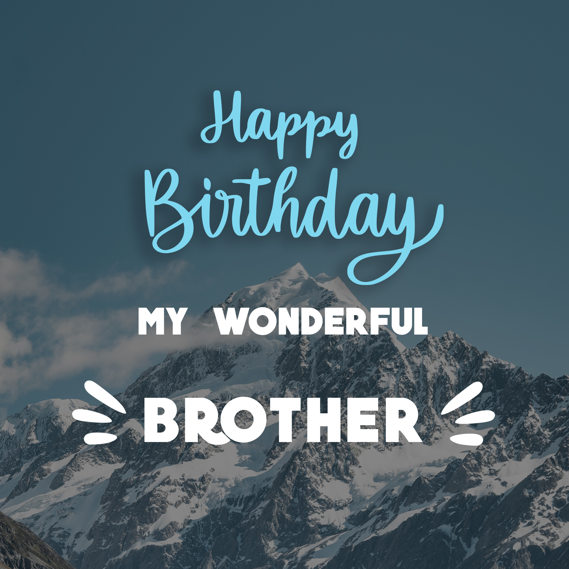 Free Happy Birthday Image For Brother With Mountains - birthdayimg.com