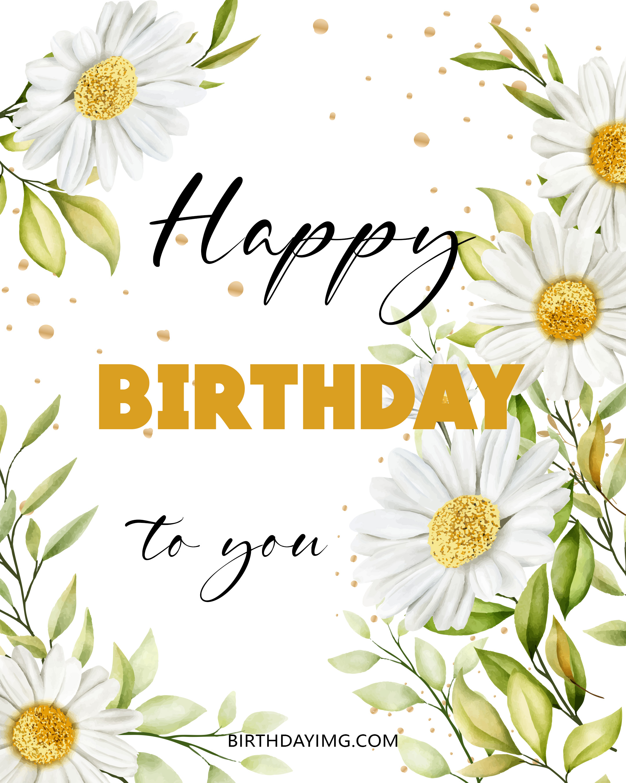 Free Happy Birthday Image For Her (Woman) With Chamomile - birthdayimg.com