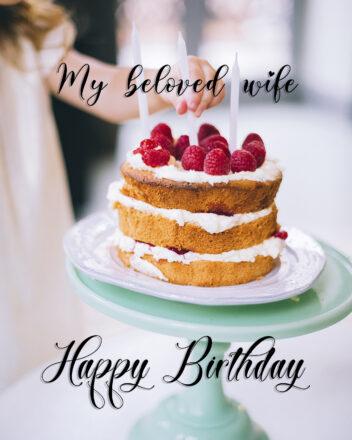 Free Happy Birthday Image For Wife With Cake - birthdayimg.com
