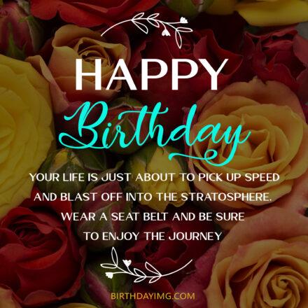Free Happy Birthday Image With Beautiful Roses - birthdayimg.com