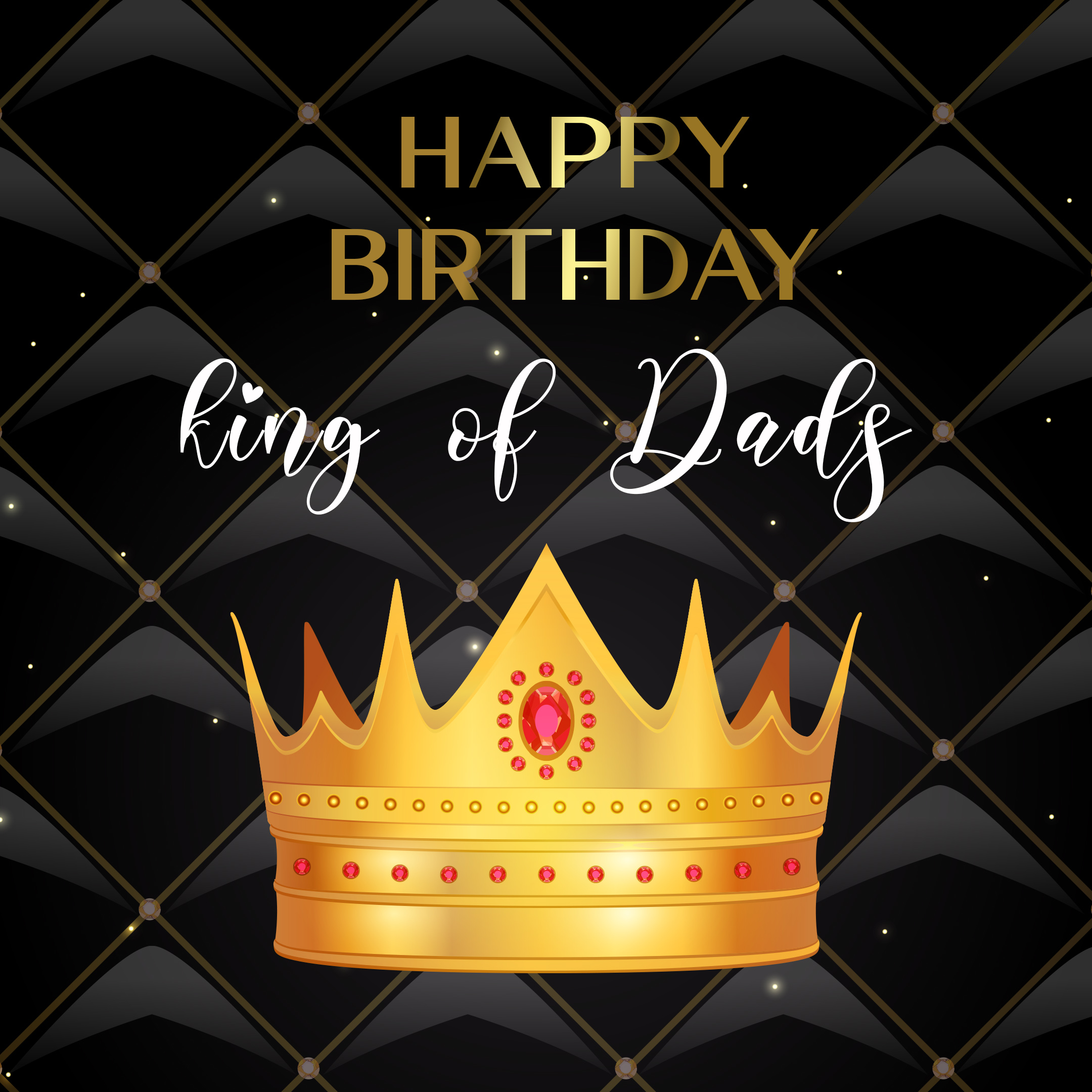 Free Happy Birthday Image For Dad With Crown - birthdayimg.com