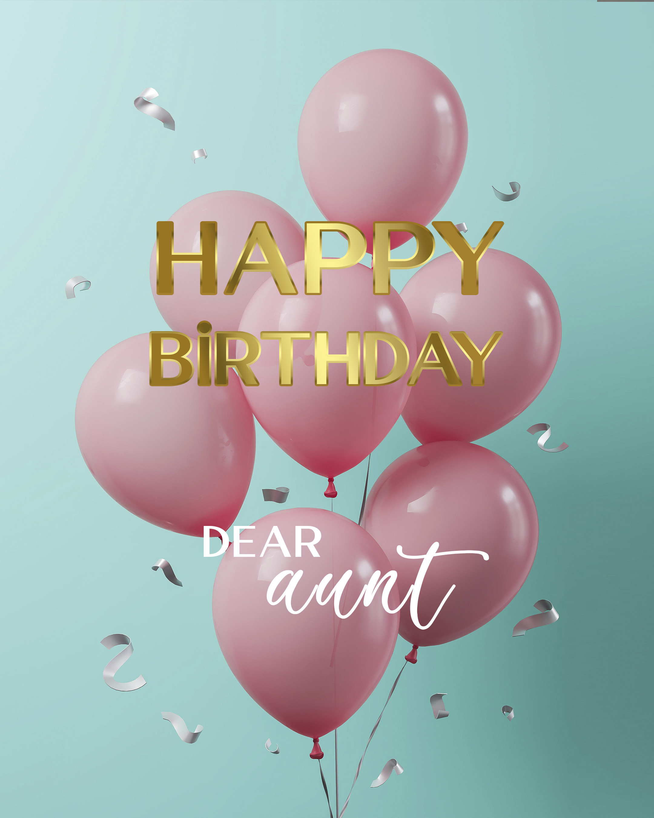 Free Happy Birthday Image For Aunt With Balloons - birthdayimg.com