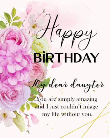 Free Happy Birthday Image For Daughter With Flowers - birthdayimg.com