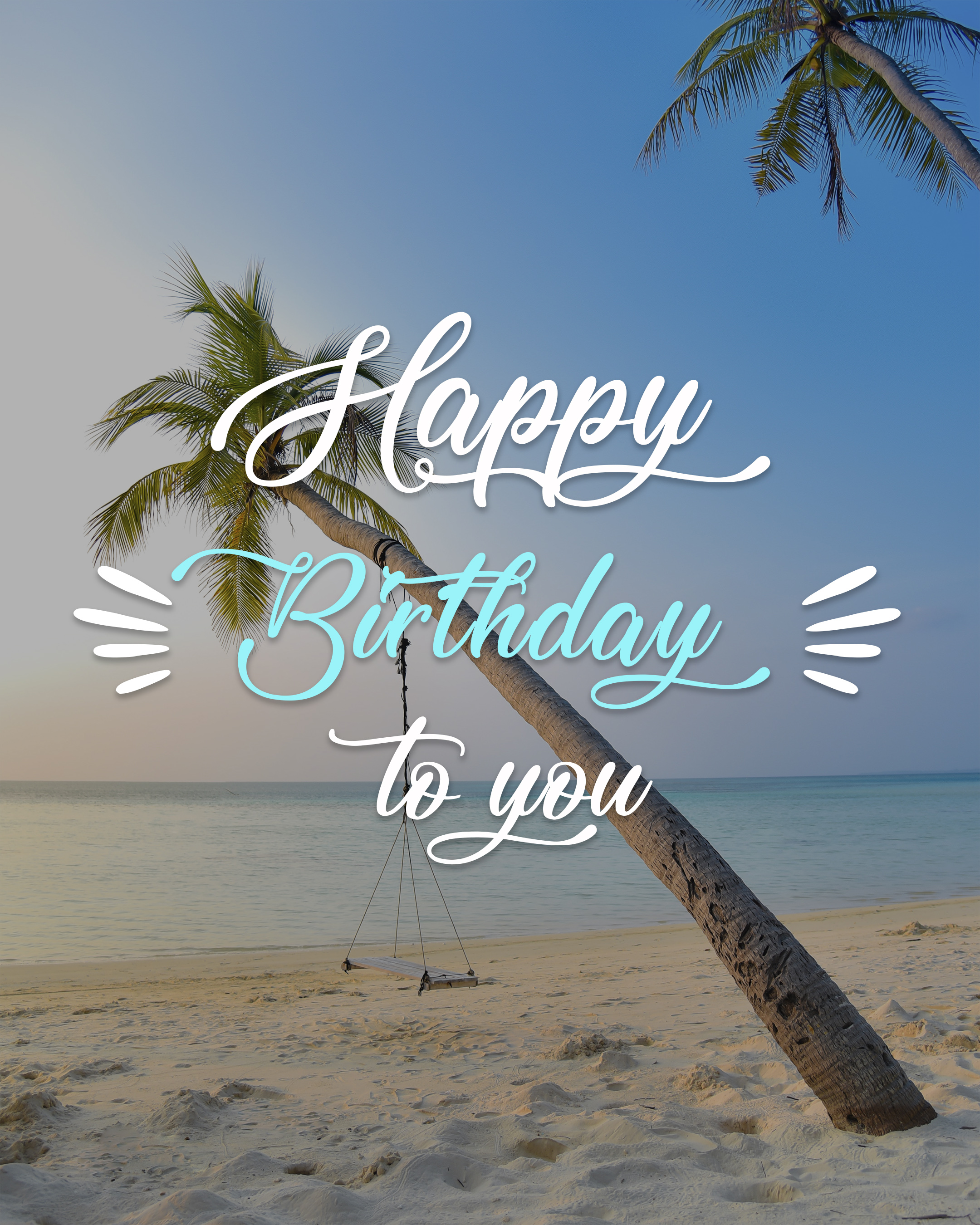 Free Happy Birthday Image With Beach - birthdayimg.com