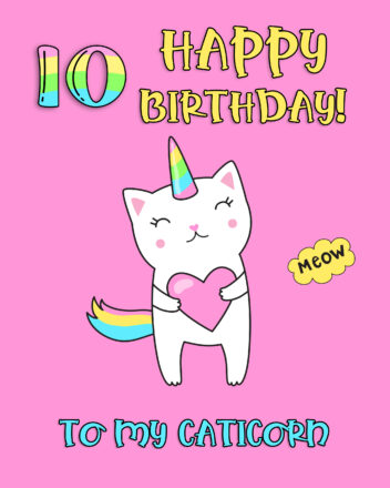 Free Funny 10th Years Happy Birthday Image - birthdayimg.com