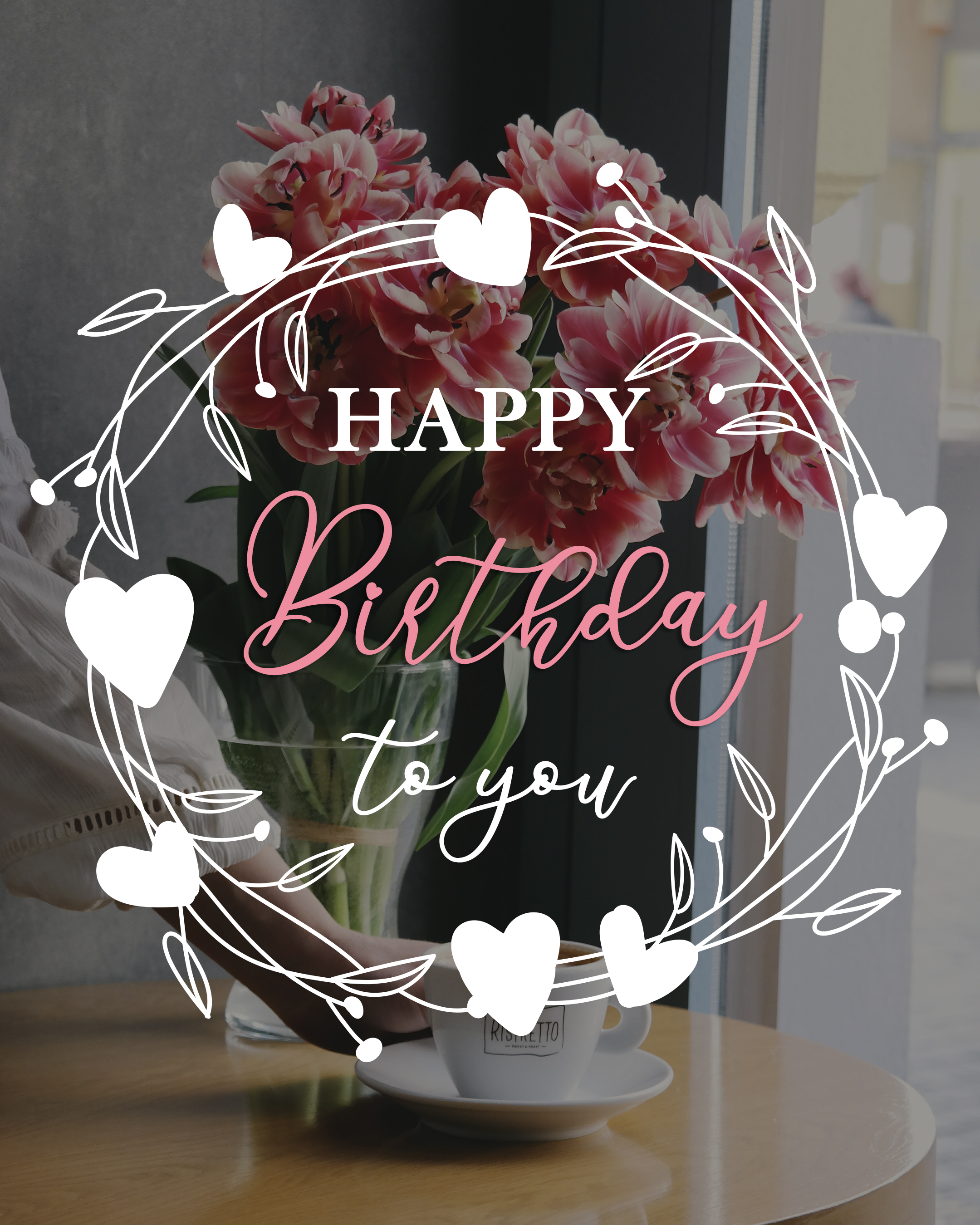 Free Happy Birthday Image For Her (Woman) With Flowers - birthdayimg.com